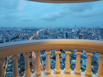 הנוף מהחדר קומה 58 מלון Tower Club At lebua