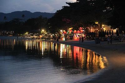 חוף Chaweng  בערב החלק הצפוני