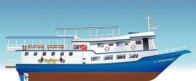 תרשים של הסירה