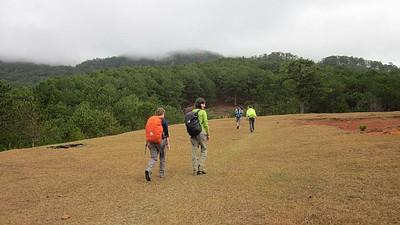 טיפוס להר Langbiang שבסביבה