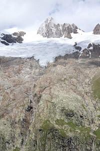 הנוף לקרחון מעל לבקתה