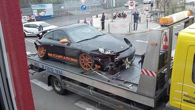 GT3 RS מרוסקת