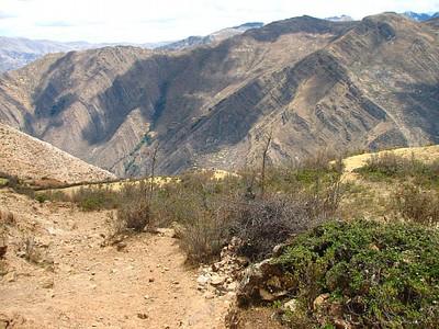 הנוף מהירידה האחרונה מההר