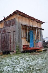 הבית של נורי בו התארחנו כמה ימים בזכות השלג