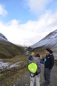העמק המוביל לקרחון שחארה