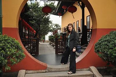 ב- Temple Jade Buddah