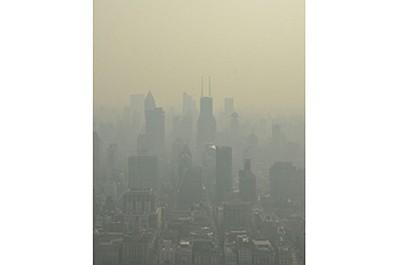 אוויר צח בשנגחאי – מבט ממגדל הטלוויזיה