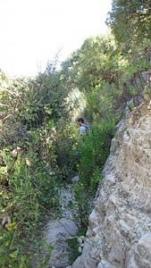 הליכה בשביל צר בנחל מורן