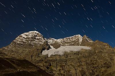 שבילי כוכבים מעל ההר Gangabal