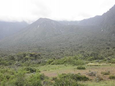 אפשר לראות את תאי השטח השונים ואיך הגובה (חמצן..) משפיע על הצמחיה בהם. הבקתה אגב - מחכה ברכס שלמעלה..