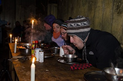 ארוחת ערב ב- Tshoka