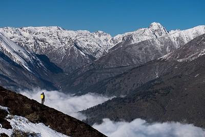 הירידה מ- Dzongri View Point