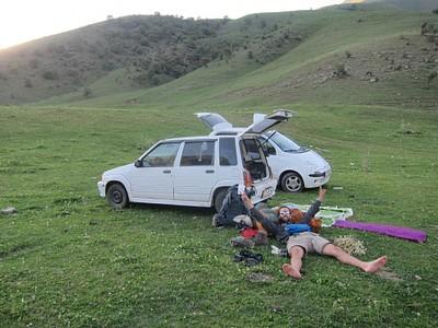 עייפים אך מאושרים בסוף הטיול