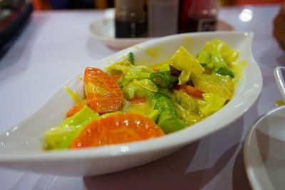 Fish Curry במסעדה הוורודה