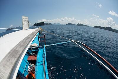 מבט על האיים הסמוכים לאל נידו מהסירה איתה הגענו