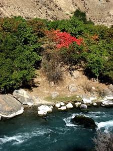 הנחל בעמק לאורך היום