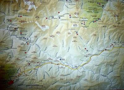 מפה סכמטית שיש בה את כל הקמפינגים