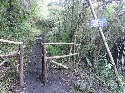 זו הדרך לכניסה הראשית, אנחנו פנינו שמאלה והגענו לחלק התחתון