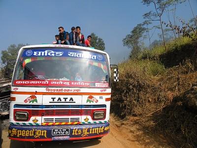 אוטובוס מקומי בין קטמנדו לארוגט באזר