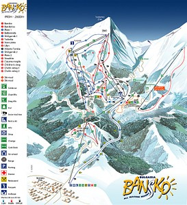 מפת אתר הסקי והמסלולים