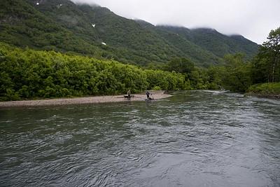 הנהר אותו חצינו בתחילת היום