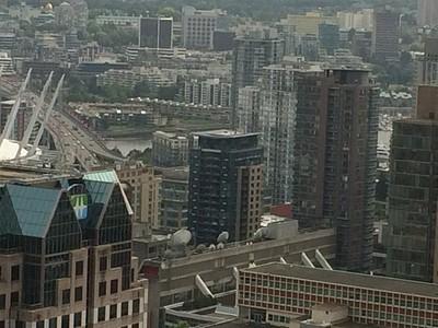 ואנקובר מבט מהמלון בדאוןטאון
