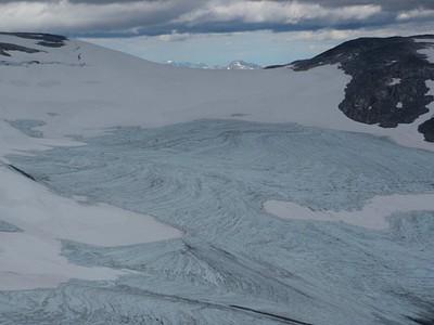 הקרחון מקרוב