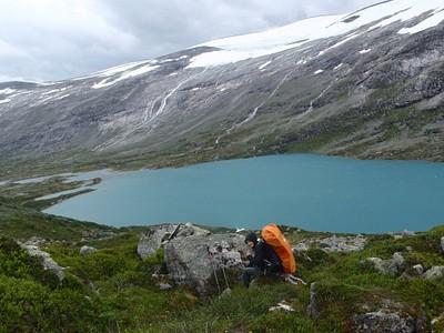 האגם הגדול ליד הבתקה