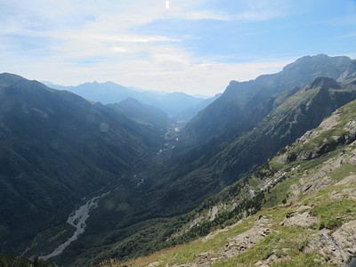 מבט מטה ל Rio Cinca