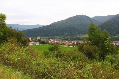 נוף טיפוסי בדרכים בסלובקיה