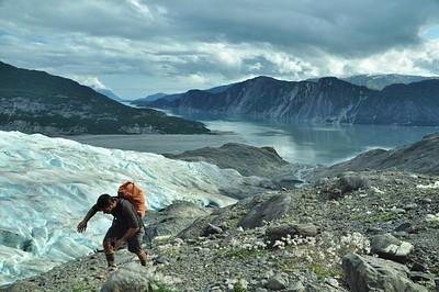 הנוף מקרחון Riggs