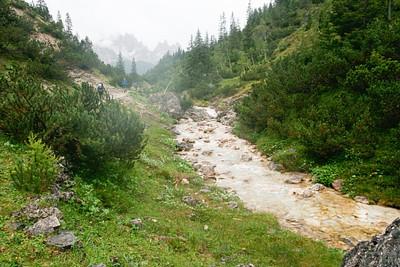 הנחל הזורם לאורך העלייה משוגעת