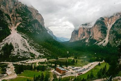 העמק הדהים במהלך הירידה