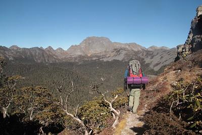נוף מהפס הראשון- גובה 4,050 מטר