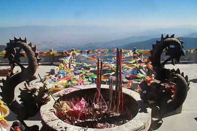 נוף מאחד המקדשים בדרך לפסגת ההר