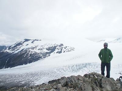 תצפית מנק' הסיום של מסלול שדה הקרח הרדינג