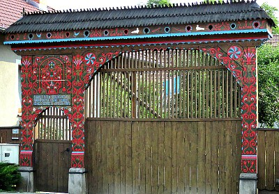 אחד השערים הנאים המקשטים את המחוז ההונגרי חרגיטה