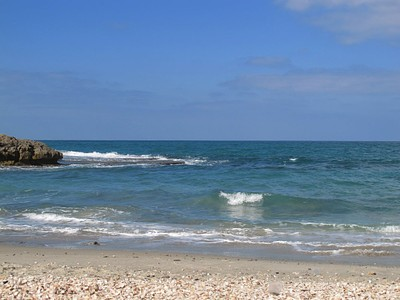 חוף הבונים בבוקר