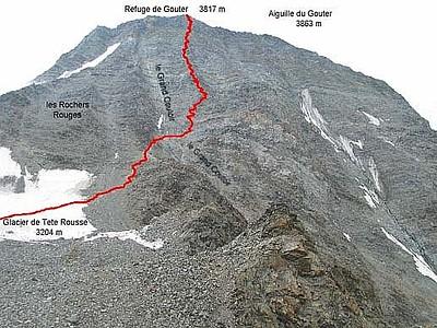 המסלול מTete Rousse לGouter