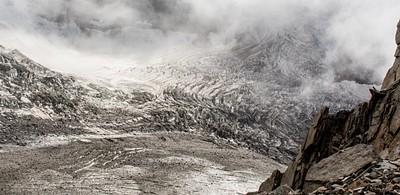 קרחון שנראה מהתצפית בTete Rousse