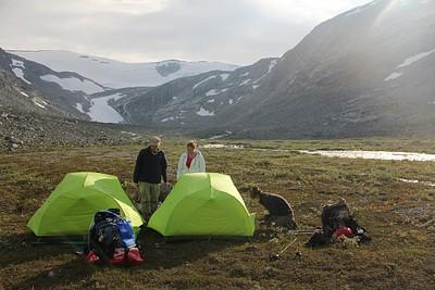 קצה העמק, מקום נוח ללינה באוהל