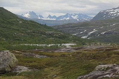 הרי שמורת Jotunheimen באופק
