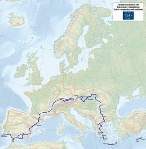 European walking route E4