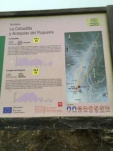 השלט ביציאה מ-Capileira לעבר שביל האקוודוקטים