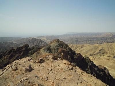 הנוף הנשקף מפסגת הר שלמה- הרי סיני