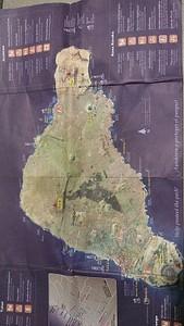 מפת התיירות של האי