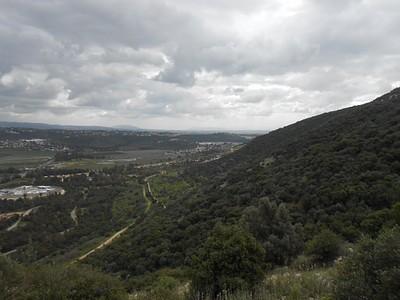 הנוף מהשביל המנדטורי לכיוון דרום