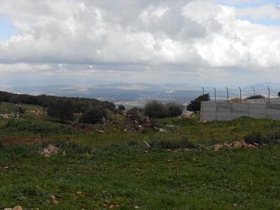 הנוף מזרחה בסוף הטיפוס בוואדי