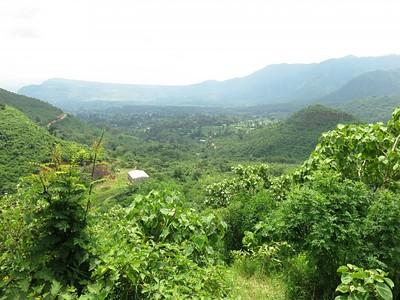 הנוף מטיול יום סביב הכפר
