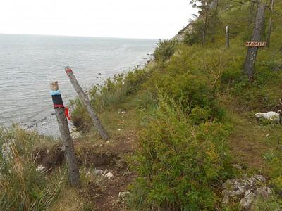 ירידה בסולם השבור לכיוון החוף